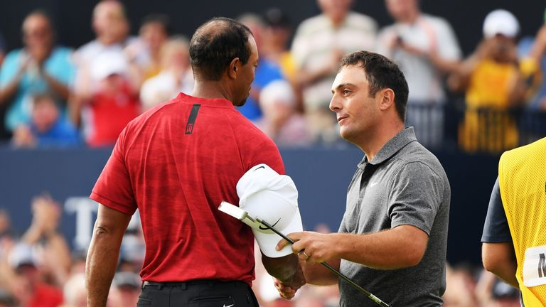 Francesco Molinari said he feels lucky to have played against Tiger Woods during the big moments of both golfers' careers.