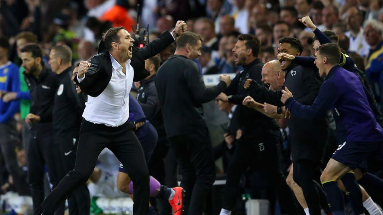 Frank Lampard enjoyed his win at Elland Road, but lost in the play-off final at Wembley