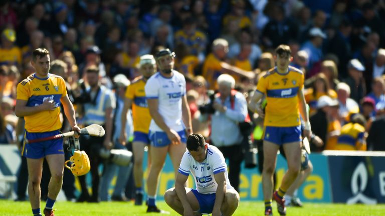 A dejected Mikey Kearney of Waterford after the Munster GAA Hurling Senior Championship Round 1 match