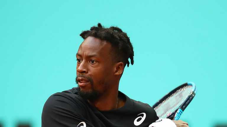Monfils recovered from a bagel opening set, but ultimately went down in three