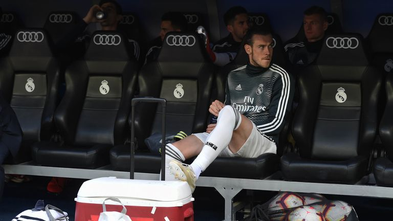 Bale sat on the bench again at the weekend