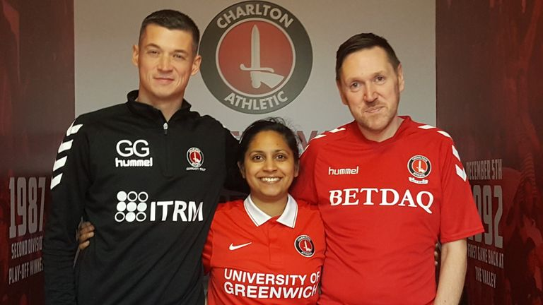 Gary Ginnaw, Bhavisha Patel and Rob Harris of the Proud Valiants will support Charlton at Wembley ahead of Monday evening's tournament at The Valley