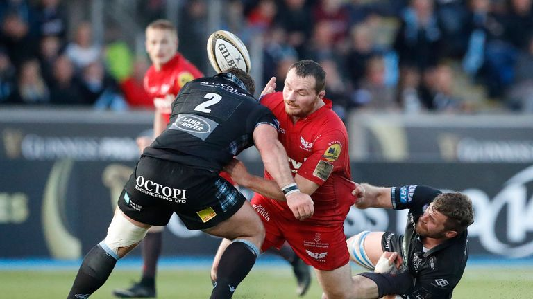 There was criticism of Glasgow's artificial pitch against Scarlets last year