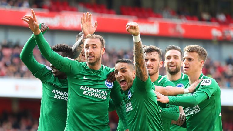 Brighton earned an unexpected draw at the Emirates against Arsenal last week