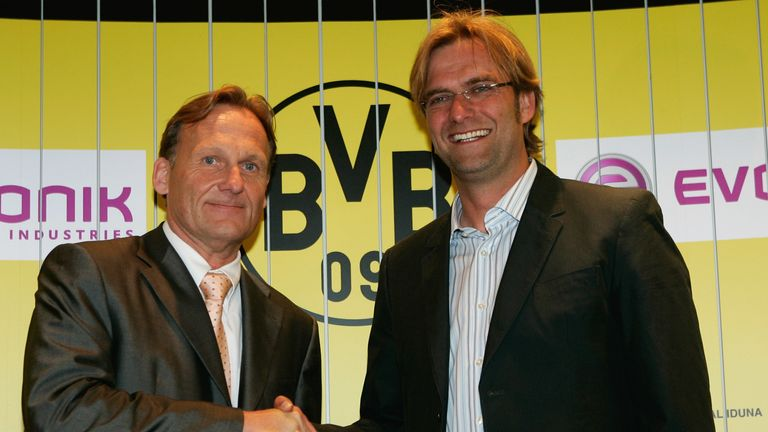 Hans-Joachim Watzke announced Klopp's appointment to the world when he named the fresh-faced young manager as Borussia Dortmund's new head coach in 2008