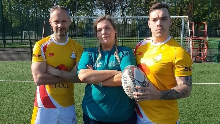 Club chairman David Eldridge, coach Laura Huntenburg and player Oliver Hookem have seen the Roundheads make a big impact in Hull