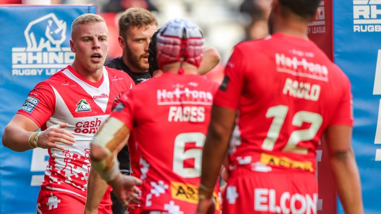 Jack Ashworth was among the seven tries scored by St Helens at Anfield