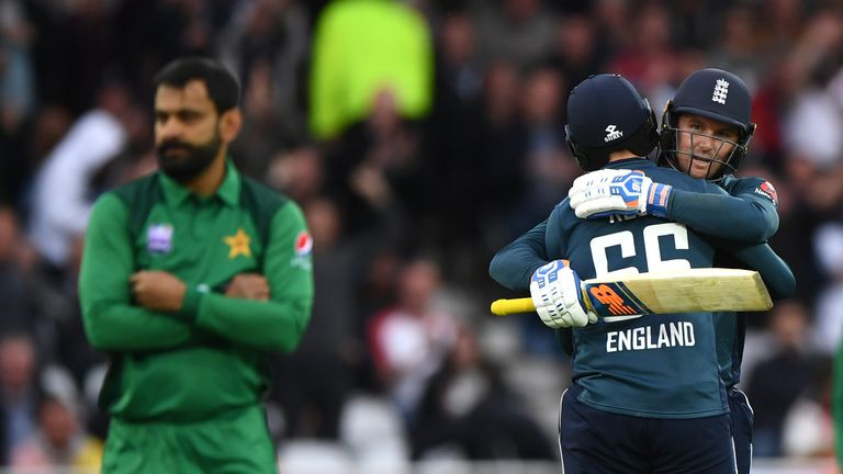 Jason Roy was emotional after overcoming a near-sleepless night to lead England to victory