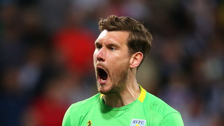 Aston Villa goalkeeper Jed Steer saved two penalties