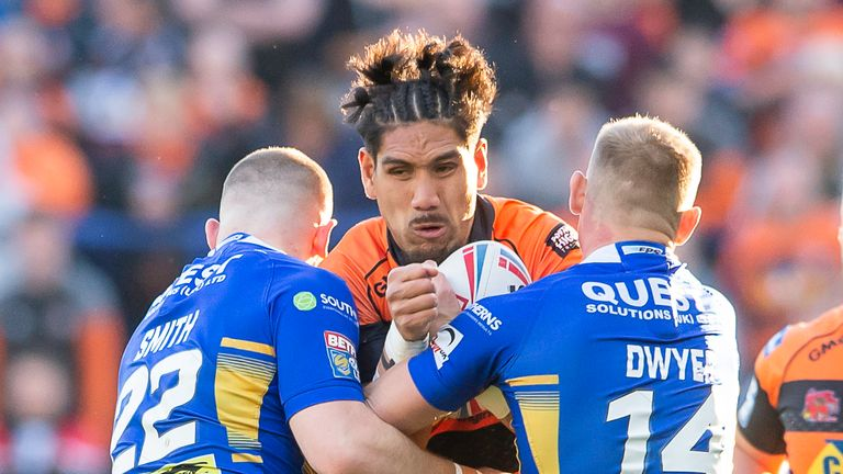 Jesse Sene-Lefao scored two tries for Castleford in the win over Leeds