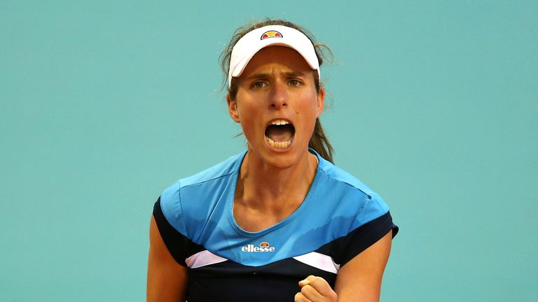 Johanna Konta reached her first clay-court final in Morocco at the weekend