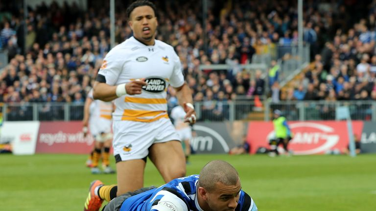 Jonathan Joseph and Bath registered a dramatic late win over Wasps on Sunday