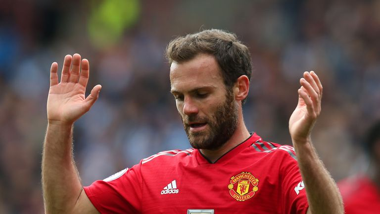 Juan Mata couldn't help Manchester United to victory against Huddersfield Town