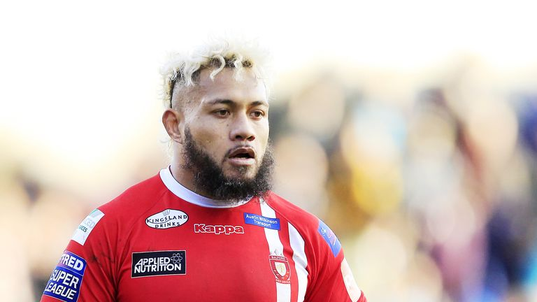 Junior Sa'u has made two Salford appearances in the last three months