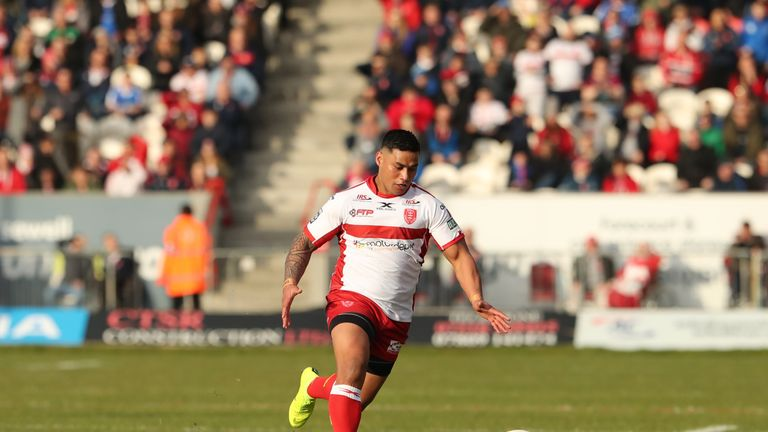 Junior Vaivai was one of the try-scorers for Hull KR