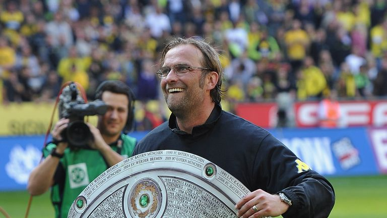 Jurgen Klopp led Borussia Dortmund to their first Bundesliga title in nine years in 2010