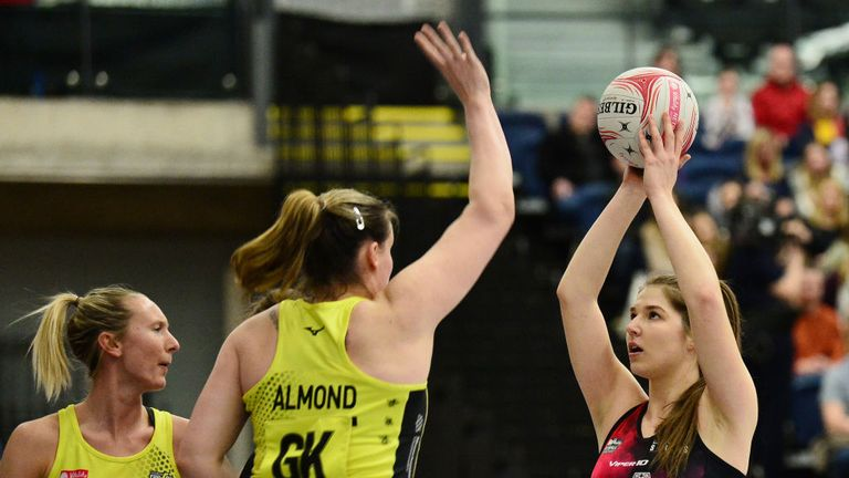 Kerry Almond (GK) will take to the court for one last time for Manchester Thunder