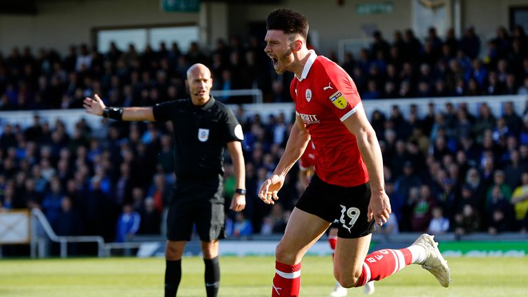 Kieffer Moore helped Barnsley secure promotion to the Sky Bet Championship