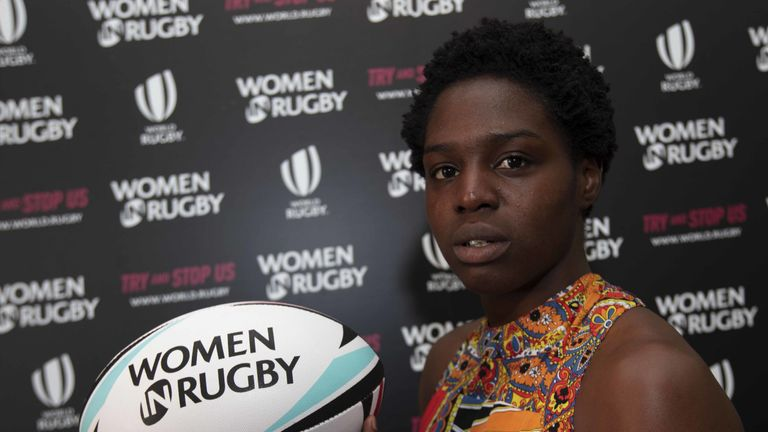 USA Sevens player Kiki Morgan at the Women in Rugby launch