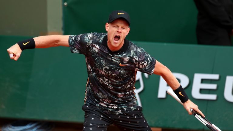 French Open 2019: Kyle Edmund beats Jeremy Chardy to reach French Open second round