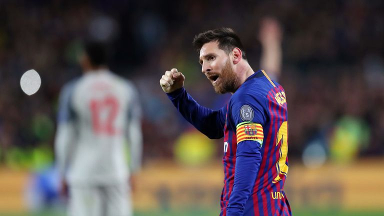 Ronaldo's rival,  Lionel Messi, is still at the top of his game for Barcelona