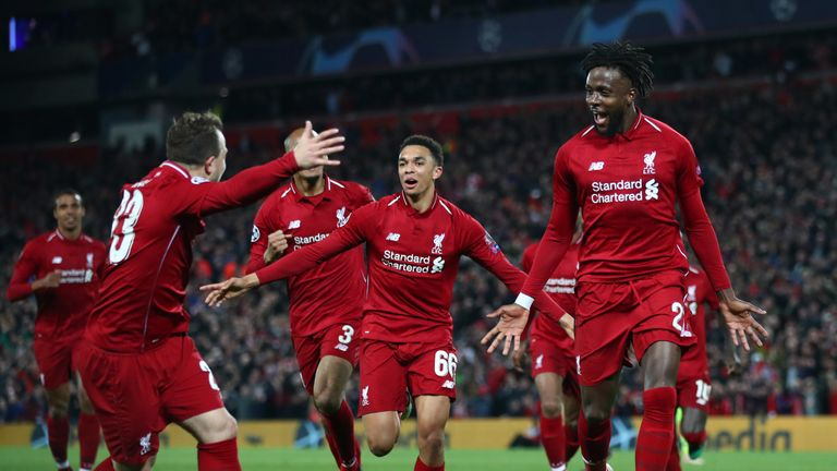 Divock Origi scored the fourth and decisive goal at Anfield