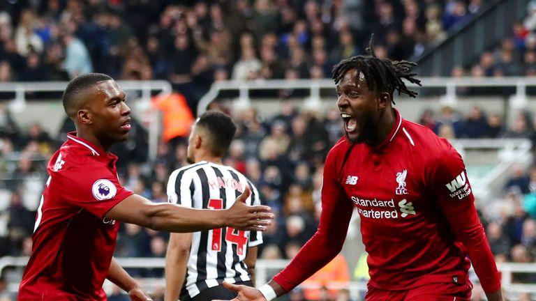 Divock Origi proved the unlikely hero as Liverpool left it late on Tyneside