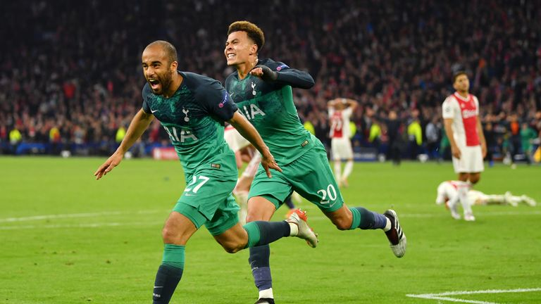 Lucas Moura (left) and Dele Alli impressed for Tottenham