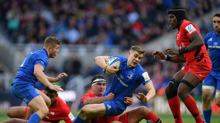 Luke McGrath is tackled in Leinster's Champions Cup final defeat to Saracens