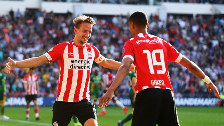 Luuk de Jong has been in fine form this season for PSV Eindhoven
