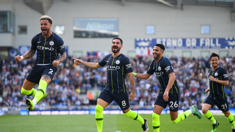 Ilkay Gundogan celebrates his goal