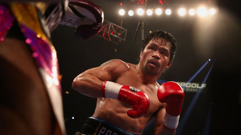 Manny Pacquiao's last fight saw him beat Adrien Broner on points in January