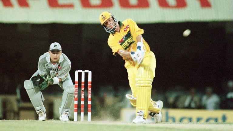 Mark Waugh powered Australia to victory during the quarter-final in Madras