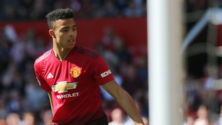 Mason Greenwood became the youngest ever player to start a Premier League match for United
