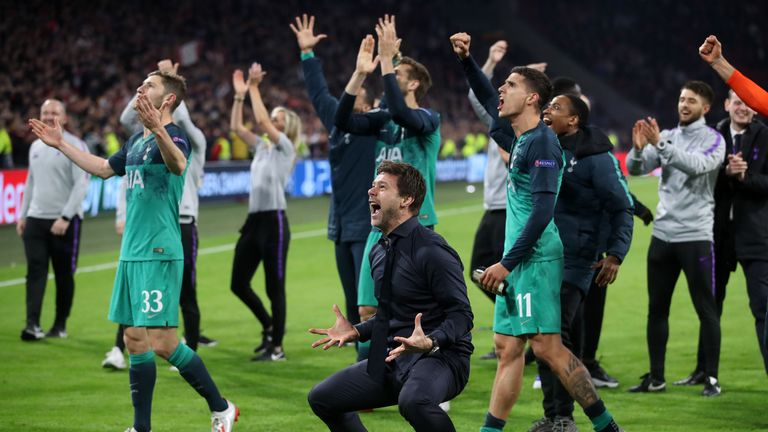Tottenham won 3-2 in Amsterdam to beat Ajax on away goals in the Champions League semi-finals