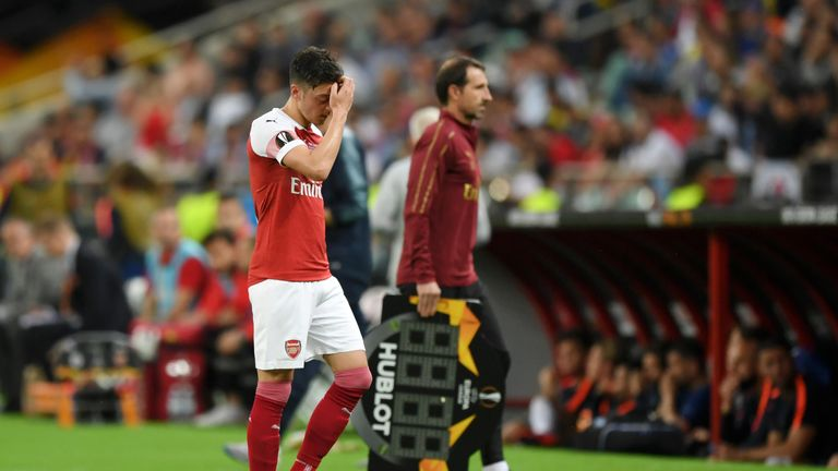 Mesut Ozil disappointed for Arsenal