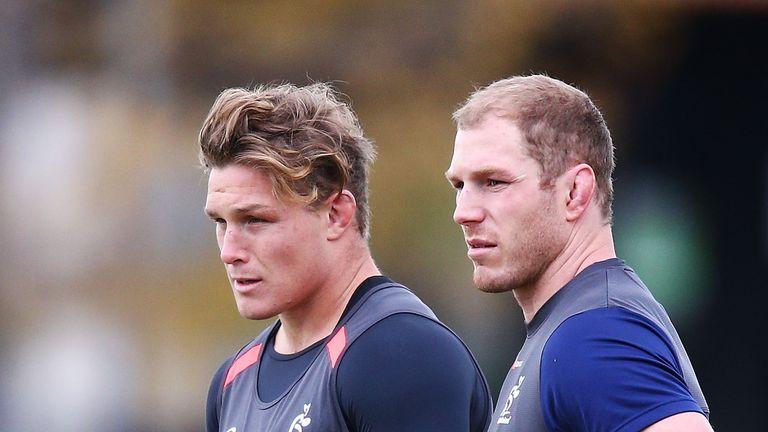 Michael Hooper (L) hopes David Pocock (R) can return to boost Australia's World Cup hopes