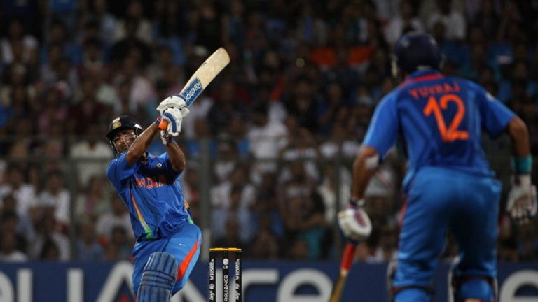 MS Dhoni set the stadium alight by sealing victory in the 2011 final with a six