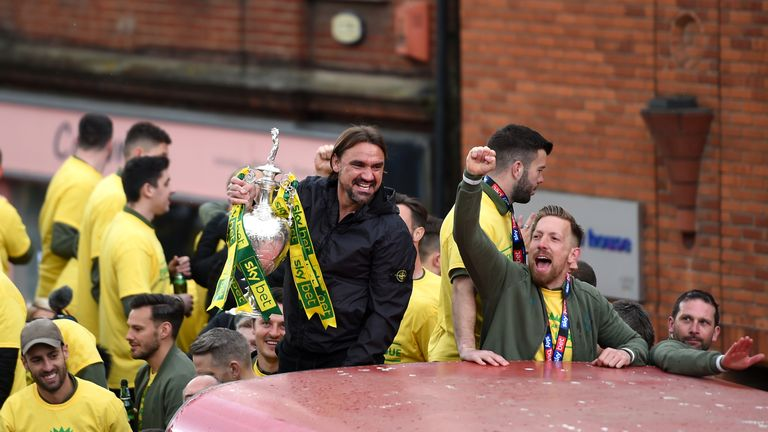 Daniel Farke led Norwich to this season's Championship title