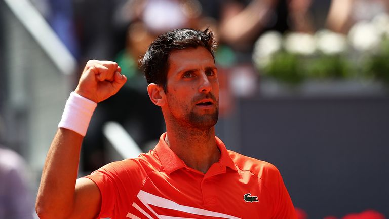 Novak Djokovic set up a quarter-final clash against Marin Cilic