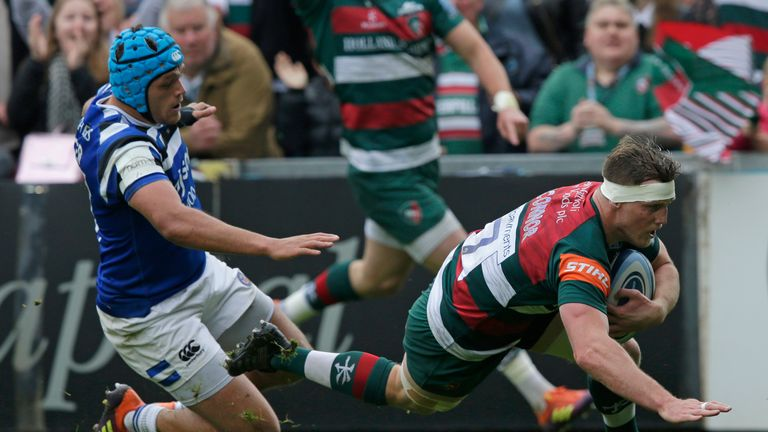 Leicester had looked set to win when three tries, one from Brendon O'Connor (pictured), along with George Ford's boot had them 31-22 ahead with 20 minutes left