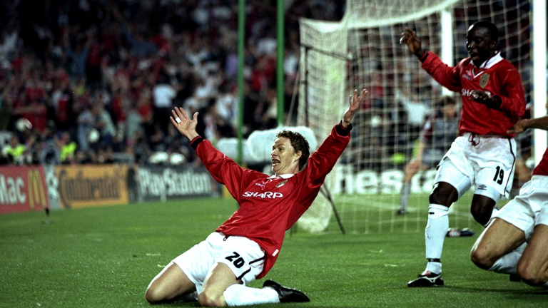 Solskjaer won six Premier League titles, two FA Cups and the Champions League during his playing days at United