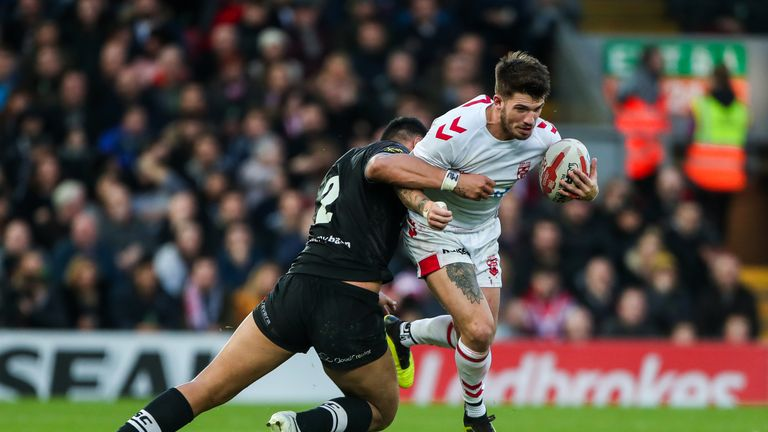 Oliver Gildart in action for England at Anfield last November
