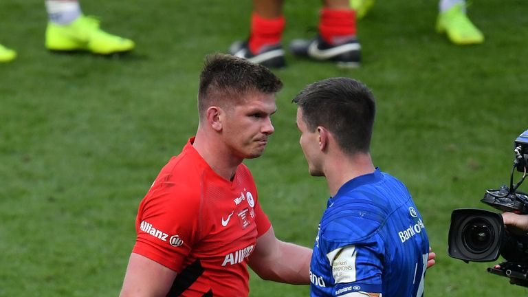 Farrell kicked 10 points when Saracens beat Leinster in last year's Champions Cup final
