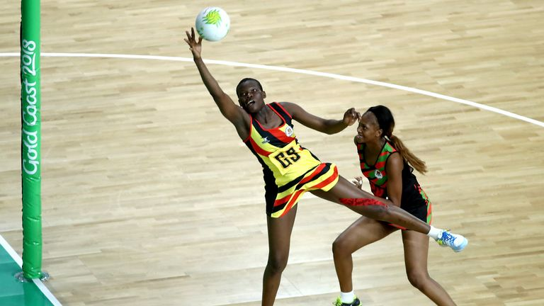 Peace Proscovia who  will captain Uganda at the Netball World Cup could post as a threat to the Thistles