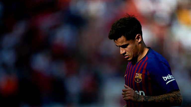 Coutinho found it difficult to adapt to life at the Nou Camp