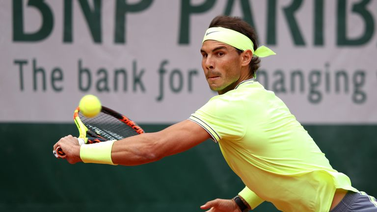 Rafael Nadal started his bid for French Open number 12 with a routine victory over Yannick Hanfmann