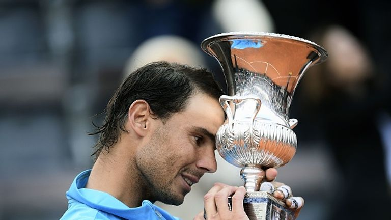 Rafael Nadal beat Novak Djokovic in three sets to win the Rome Masters