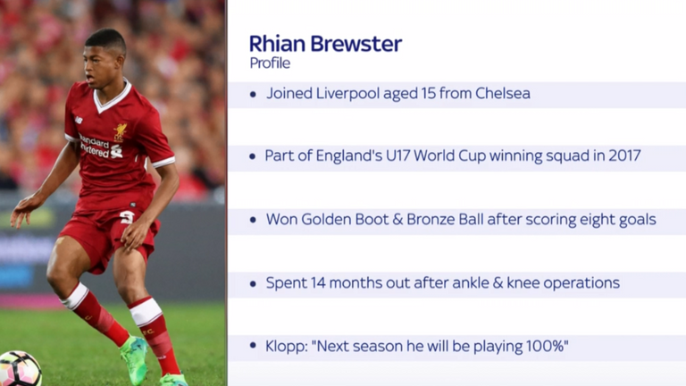 Rhian Brewster will be part of the Liverpool matchday squad on Tuesday night