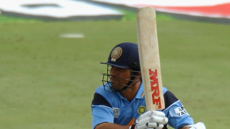 Sachin Tendulkar paved the way for India's commanding win over Pakistan at the 2003 World Cup